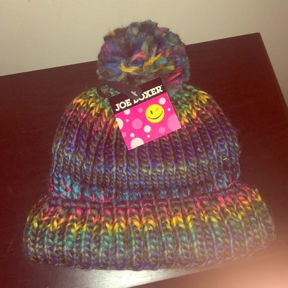 Multicolor Knit Beanie. NWT. Joe Boxer c36417b985c7